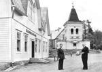 Kirkonkylä 1950-luvulla.